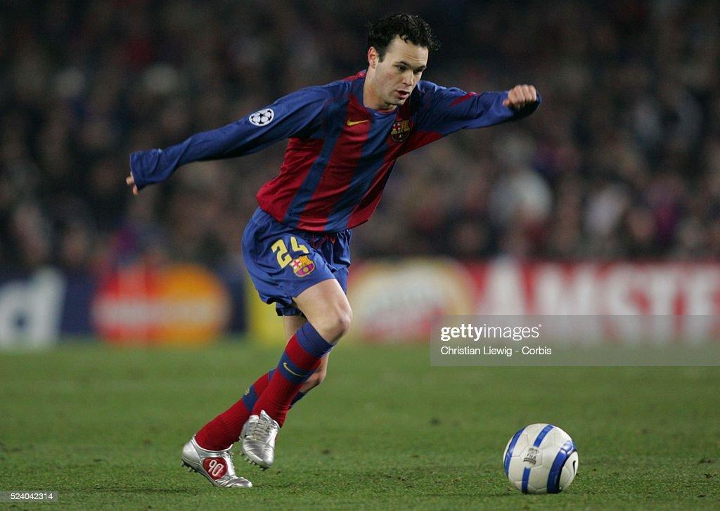 Soccer 2005 - UEFA Champions League - FC Barcelona vs Chelsea : News Photo