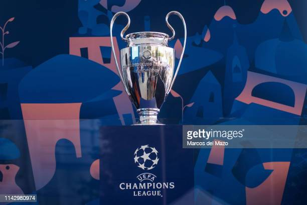 Champions League trophy arrived to the city ahead of the final match between Liverpool and Tottenham that will take place in Wanda Metropolitano...