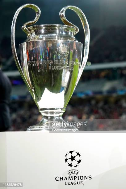 Champions League Trophy during the UEFA Champions League match between Lille v Ajax at the Stade Pierre Mauroy on November 27, 2019 in Lille France