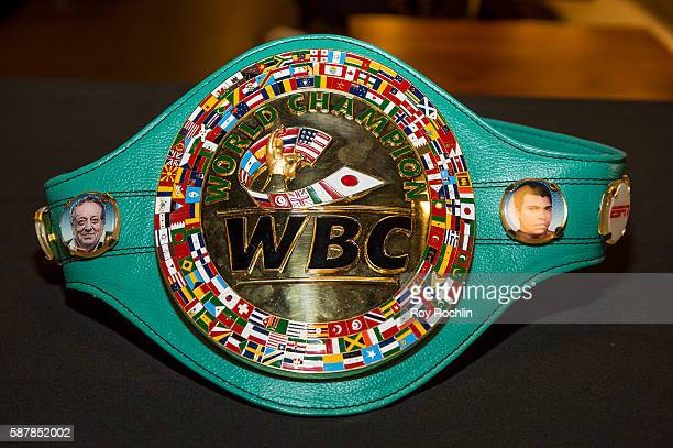 Championship Belt presented during the Beyond Sport United 2016 at Barclays Center on August 9 2016 in Brooklyn New York