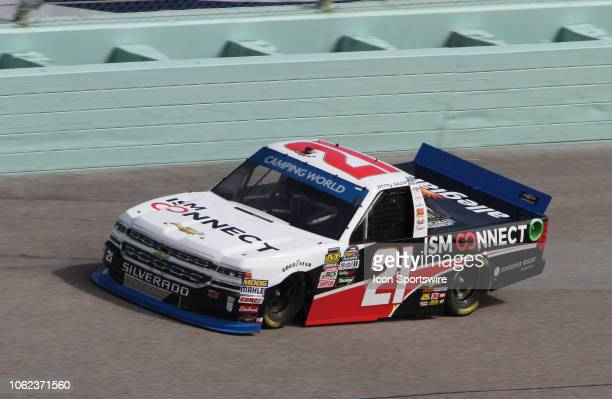Championship contender Johnny Sauter runs in the final practice for the Ford EcoBoost 200 on November 16 at HomesteadMiami Speedway in Homestead FL