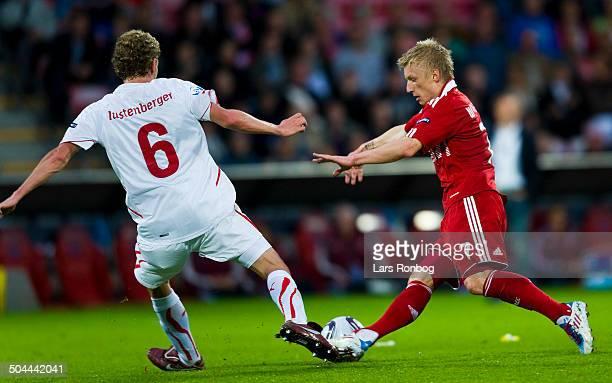 Championship Denmark vs Switzerland Fabian Lustenberger Schweiz / Switzerland Daniel Wass Danmark / Denmark © Lars Ronbog / Frontzonesport