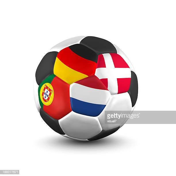 championnat de ballon de football match du groupe b - culture européenne photos et images de collection