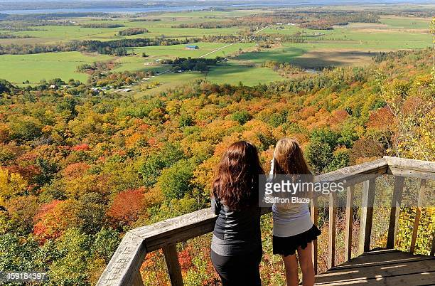 champlain lookout gatineau park - gatineau stock photos and pictures