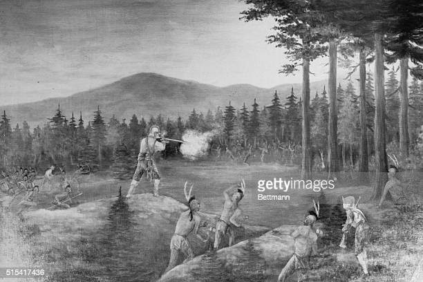 Champlain's Battle with the Iroquois on the fort Ticonderoga Headland July 1609