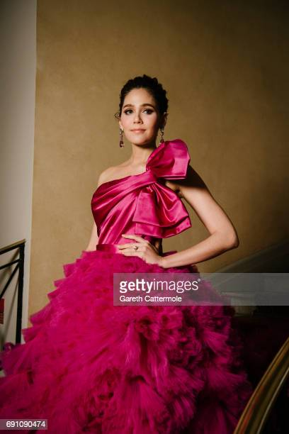 Champoo Arya departs the Martinez Hotel during the 70th annual Cannes Film Festival on May 20 2017 in Cannes France