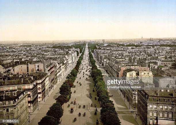 Champs Elysees an avenue Paris between ca 1890 and ca 1900 France