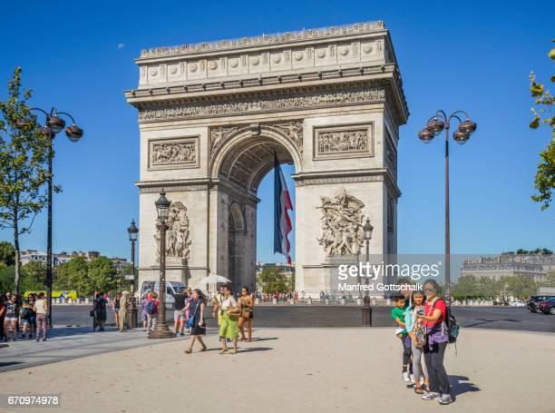 Champs Elysées and Arc de Triomph