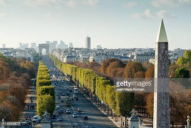 'Champs Elysées' and obélisque seen of top