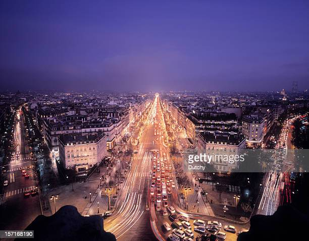 champs-elysées, paris, france. - champs elysees quarter stock pictures, royalty-free photos & images