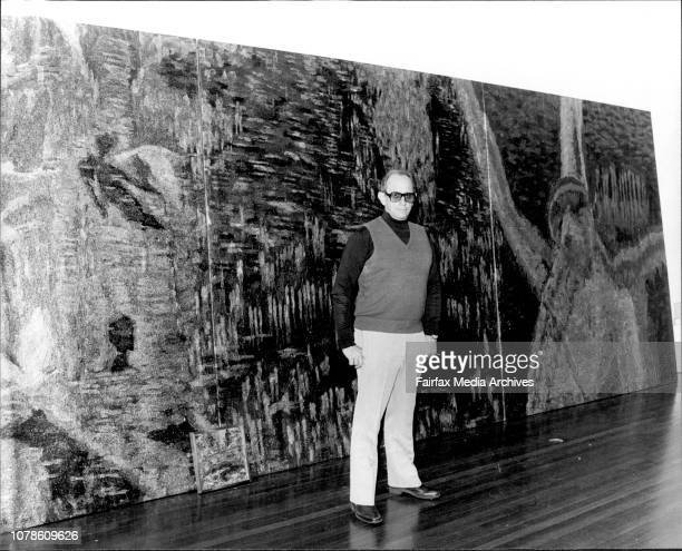 Chan Coventry at his art gallery 'Cementry Gallery' in Sutherland St Peddingston June 18 1979