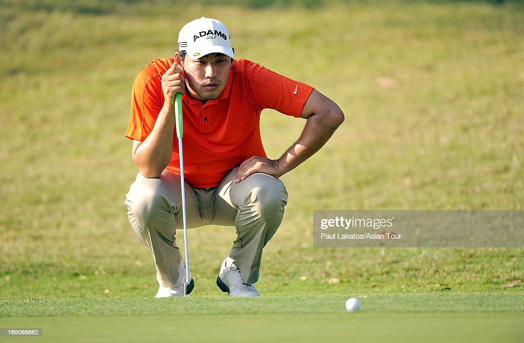 Chan Kim of USA on his way to winning the Asian Tour Qualifying final stage at Springfield Royal Country Club on January 26, 2013 in Hua Hin, Thailand.