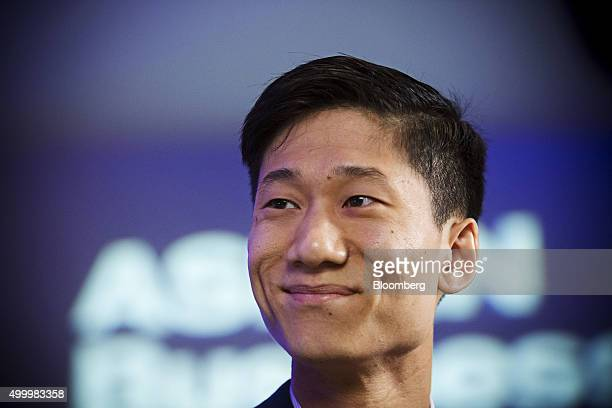 Chan Park general manager of Southeast Asia at Uber Technologies Inc reacts during a Bloomberg Television interview at the Bloomberg ASEAN Business...