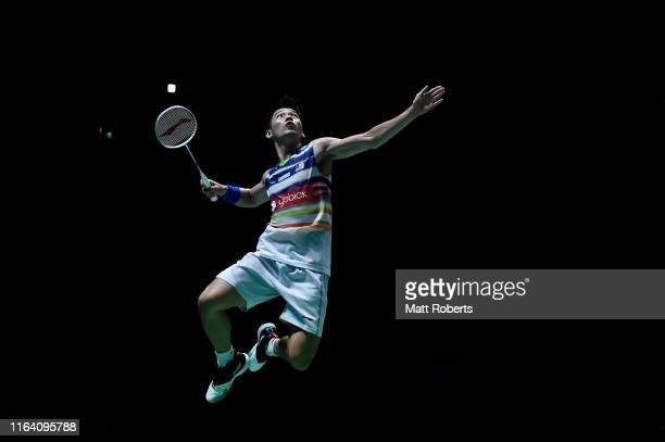 Chan Peng Soon competes with partner Goh Liu Ying of Malaysia in the mixed doubles match against Thom Gicquel and Delphine Delrue of France on day...