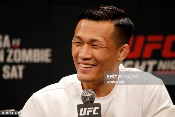Chan Sung Jung also known as the korean Zombie attends the press conference of the mixed martial arts event produced by the Ultimate Fighting...