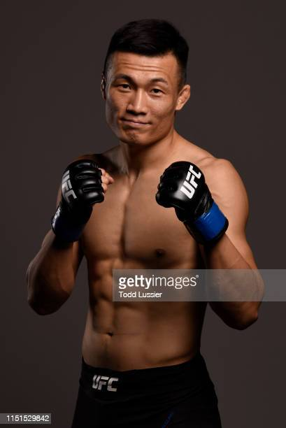 Chan Sung Jung of South Korea poses for a portrait backstage during the UFC Fight Night event at Bon Secours Wellness Arena on June 22 2019 in...
