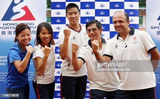 Chan Waiyin personal coach of Chan Mingtai Christy Yiu Kitching marathon runner Chan Mingtai long jumper Fung Wangtak vice chairman in technical and...
