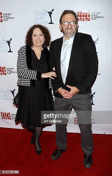 Chana Gazit and Tom Jennings attend the 2016 Writers Guild Awards New York ceremony at The Edison Ballroom on February 13 2016 in New York City