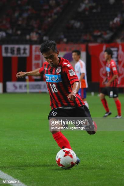Chanathip Songkrasin of Consadole Sappporo in action during the JLeague J1 match between Consadole Sapporo and Albirex Niigata at Sapporo Dome on...