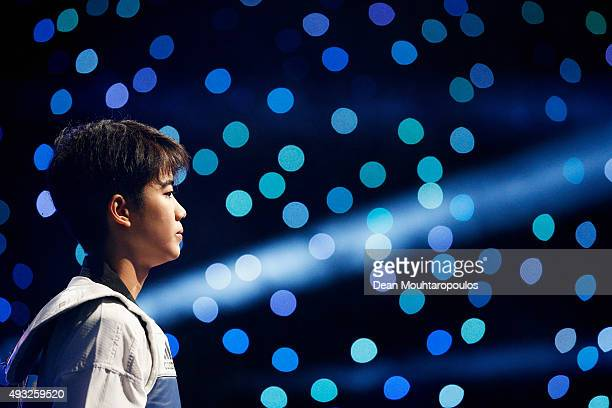 Chanatip Sonkham of Thailand looks on before her fight against Wu Jingyu of China in Seniors Female A 49kg Final during the World Taekwondo Grand...