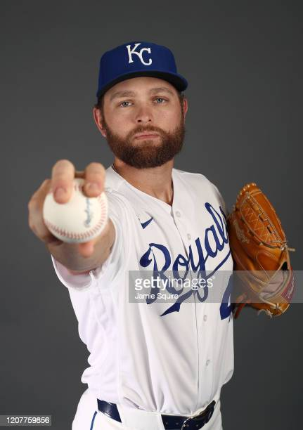 Chance Adams of the Kansas City Royals poses during Kansas City Royals Photo Day on February 20, 2020 in Surprise, Arizona.