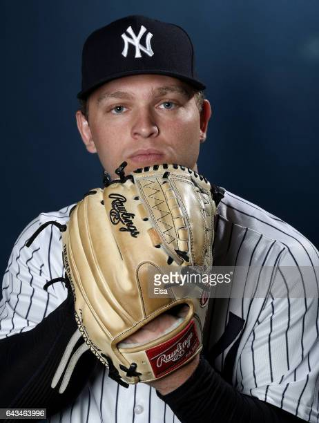 Chance Adams of the New York Yankees poses for a portrait during the New York Yankees photo day on February 21, 2017 at George M. Steinbrenner Field...
