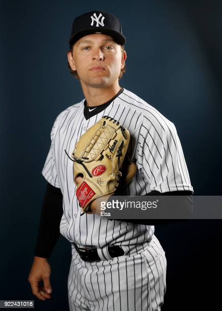 Chance Adams of the New York Yankees poses for a portrait during the New York Yankees photo day on February 21 2018 at George M Steinbrenner Field in...