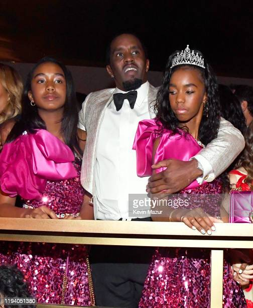 Chance Combs, Sean Combs, and D'Lila Star Combs attend Sean Combs 50th Birthday Bash presented by Ciroc Vodka on December 14, 2019 in Los Angeles,...