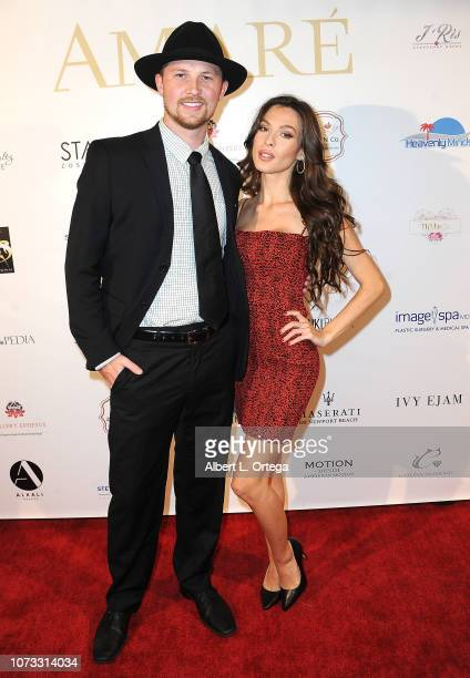 Chance Nelson and Model/actress Saranda Niles attend the Amare's Second Year Anniversary 'Believe Issue' Party held at Sofitel Los Angeles At Beverly...
