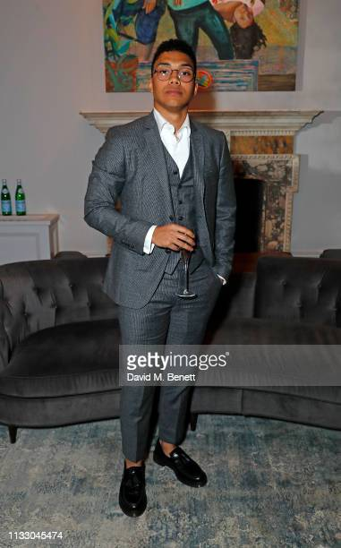 Chance Perdomo attends a private dinner hosted by Louis XIII with cellar master Baptiste Loiseau at The Arts Club on March 26, 2019 in London,...