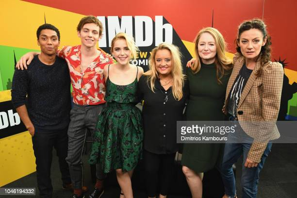 Chance Perdomo Ross Lynch Kiernan Shipka Lucy Davis Miranda Otto and Michelle Gomez of 'Chilling Adventures of Sabrina' attend IMDb at New York Comic...