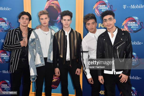 Chance Perez Brady Tutton Michael Conor Sergio Calderon and Drew Ramos of In Real Life attend FOX's Teen Choice Awards at The Forum on August 12 2018...