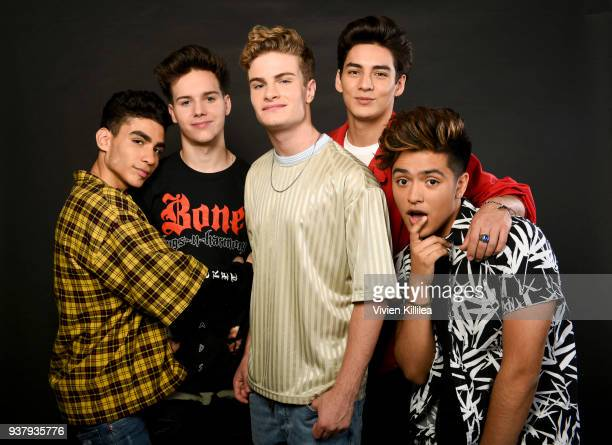 Chance Perez Michael Conor Brady Tutton Drew Ramos and Sergio Calderon of the band In Real Life attend ipsy Gen Beauty at the Los Angeles Convention...