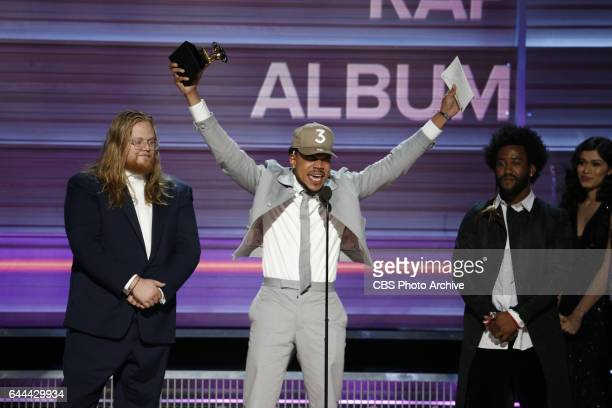 Chance The Rapper accepts the Grammy Award for Best Rap Album during THE 59TH ANNUAL GRAMMY AWARDS broadcast live from the STAPLES Center in Los...