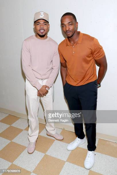 Chance The Rapper and Anthony Mackie attend the BET Hip Hop Awards 2019 at Cobb Energy Center on October 05, 2019 in Atlanta, Georgia.