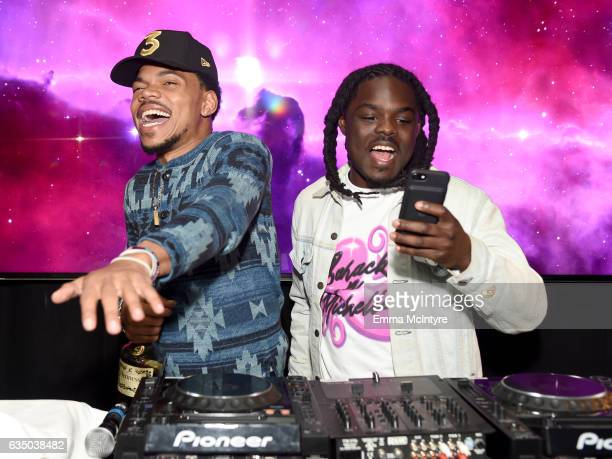 Chance the Rapper and DJ Oreo attend GQ and Chance The Rapper Celebrate the Grammys in Partnership with YouTube at Chateau Marmont on February 12...