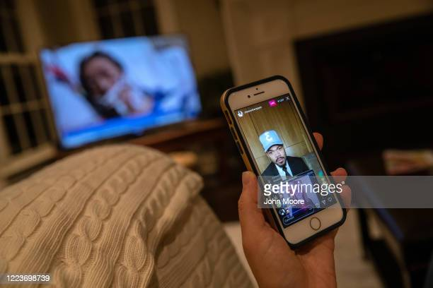 Chance the Rapper and elementary school teacher Luciana Lira speak via Instagram Live during the entertainer's Twilight Awards event honoring...