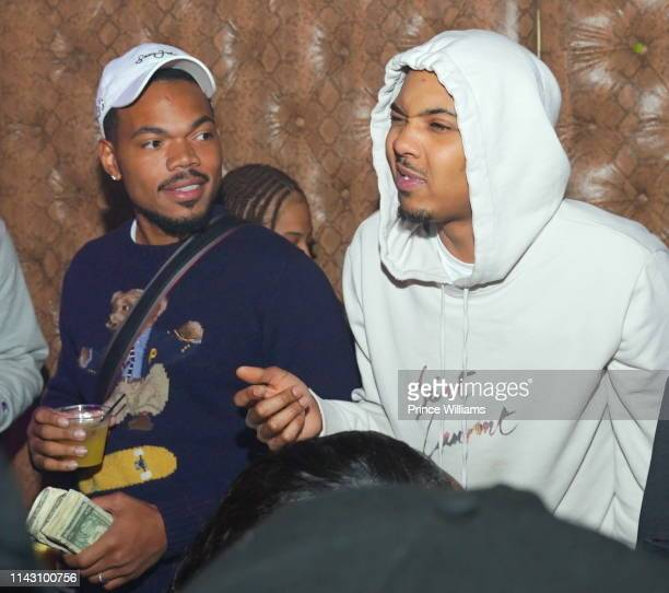 Chance The Rapper and G Herbo Celebrate at a Party at Allure on April 16 2019 in Atlanta Georgia
