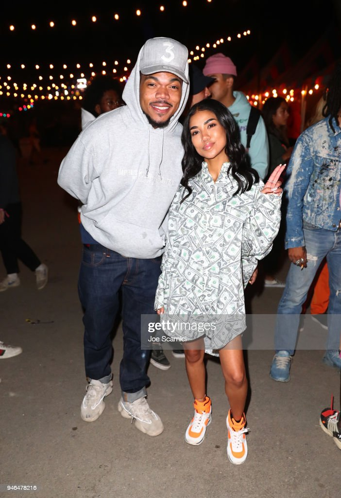 Chance The Rapper (L) and Jhene Aiko attends The Levi's Brand Presents NEON CARNIVAL with Tequila Don Julio on April 14, 2018 in Thermal, California.
