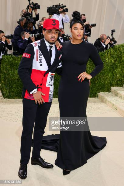 Chance the Rapper and Kirsten Corley attend The 2021 Met Gala Celebrating In America: A Lexicon Of Fashion at Metropolitan Museum of Art on September...