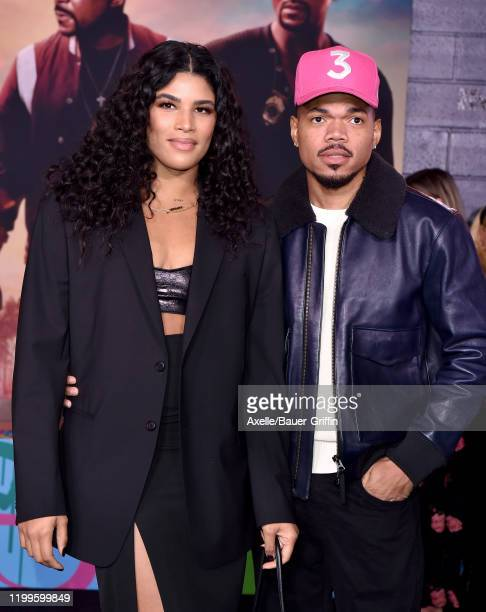 """Chance the Rapper and Kirsten Corley attend the Premiere of Columbia Pictures' """"Bad Boys for Life"""" at TCL Chinese Theatre on January 14, 2020 in..."""
