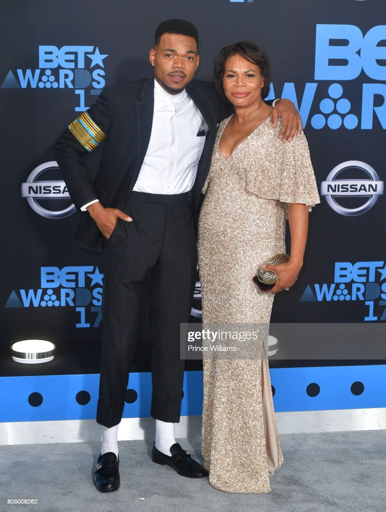 Chance the Rapper and Lisa Bennett attend the 2017 BET Awards at Microsoft Theater on June 25, 2017 in Los Angeles, California.