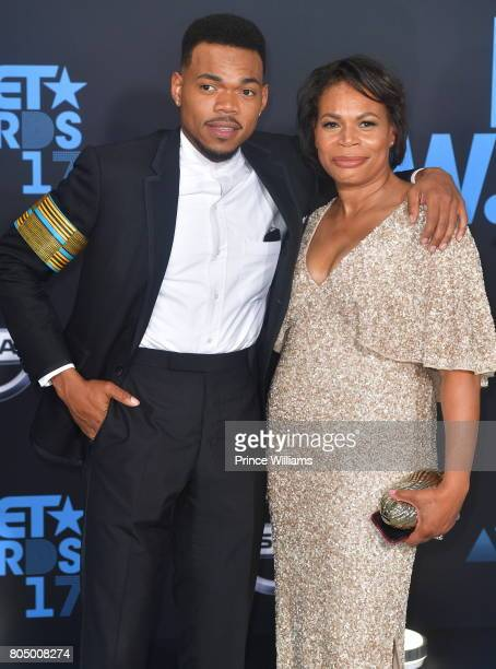 Chance the Rapper and Lisa Bennett attend the 2017 BET Awards at Microsoft Theater on June 25 2017 in Los Angeles California