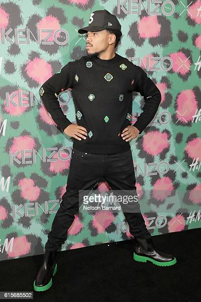 Chance the Rapper attends KENZO x HM Launch Event Directed By JeanPaul Goude' at Pier 36 on October 19 2016 in New York City