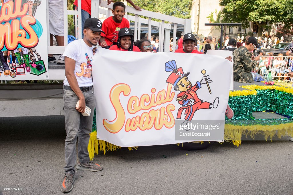 Chance the Rapper attends the 88th Annual Bud Billiken Parade on August 12, 2017 in Chicago, Illinois.