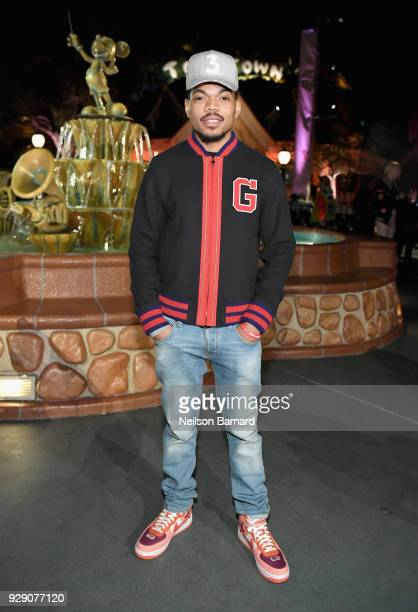 Chance The Rapper attends the launch of 'Mickey the True Original' campaign in celebration of Mickey's 90th anniversary with a fashion show featuring...
