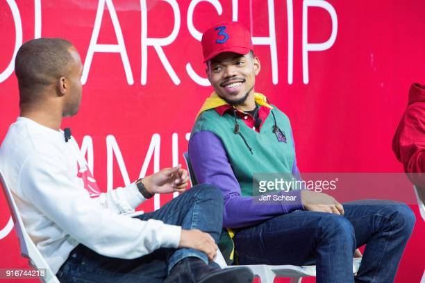 Chance The Rapper attends the Scholly Scholarship Summit on February 10 2018 in Chicago Illinois