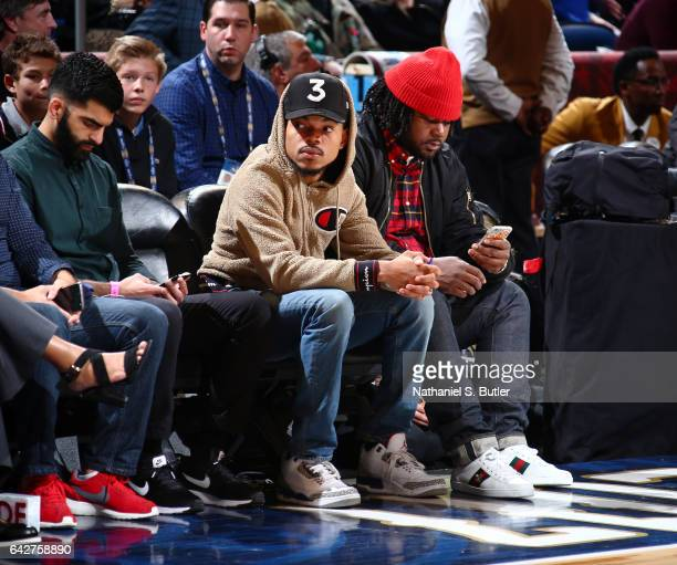 Chance the Rapper during the JBL ThreePoint Contest during State Farm AllStar Saturday Night as part of the 2017 NBA AllStar Weekend on February 18...