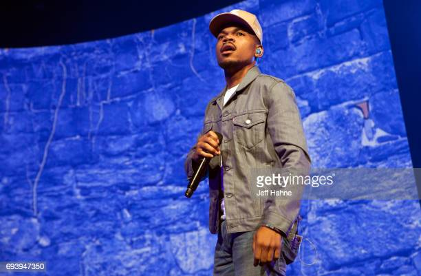 Chance the Rapper performs at PNC Music Pavilion on June 8, 2017 in Charlotte, North Carolina.