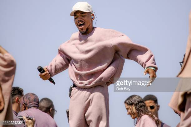 Chance The Rapper performs at Sunday Service during the 2019 Coachella Valley Music And Arts Festival on April 21 2019 in Indio California